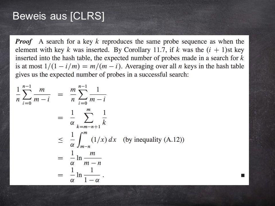 Beweis aus [CLRS]